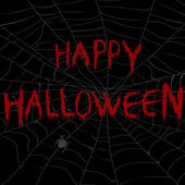 Halloween illustration with spider web in the dark — Stock Photo