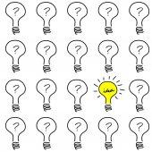 Creative concept with bulb light — Stock Vector