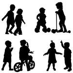 Children silhouette — Stock Vector #55972479