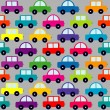 Pattern with cartoon cars — Stock Vector #55972665