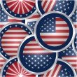 American flag web buttons — Stock Vector #55974101