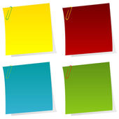 Post it notes — Stock Vector