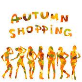 Autumn shopping — Stock Vector