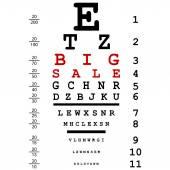 Optical eye test — Stok Vektör