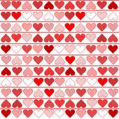 Muster mit roten herzen — Stockvektor