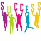 Success representation — Stock Vector