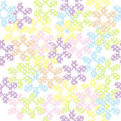 Pattern with dotted flowers — Stock Vector