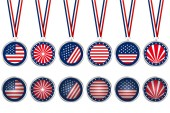 USA medals — Stock Vector