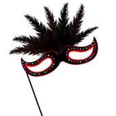 Colored mardi Grass mask — Vector de stock
