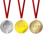 Set of 2015 medals — Stock Vector