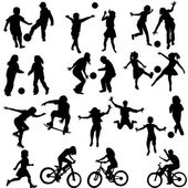 Group of active children — Stock Vector
