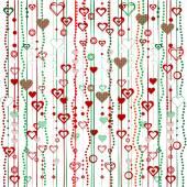 Christmas garlands with hearts — Stockvektor