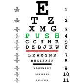 Optical eye test — Stock Vector