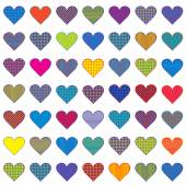 Colored stylized hearts — Stockvector