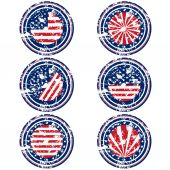 Stamps with USA flag — Stock Vector