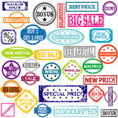 Rubber colored stamps — Stock Vector