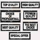 Premium quality stamps set — Stockvector