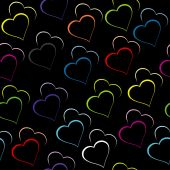 Colored hearts background — Vector de stock