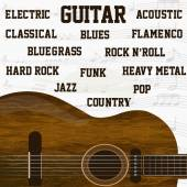 Guitar music background — Stock Vector