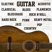 Fondo de música de guitarra — Vector de stock