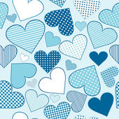 Background with blue stylized hearts — Stockvektor