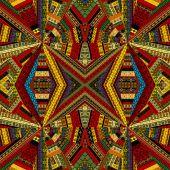 Kaleidoscope of ethnic patchwork — Stockvektor