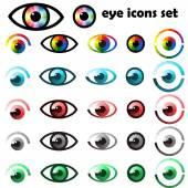 Set of eyes icons — Stock Vector