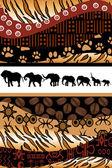 Afrikansk bakgrund — Stockvektor