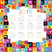 2015  schools Calendar — Stock Vector