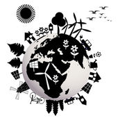 Koncepcyjny ekologiczny — Wektor stockowy