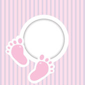 Two child foot steps — Vector de stock
