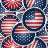 American flag web buttons — Stock Vector