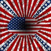 Grunge American flag — Stock Vector