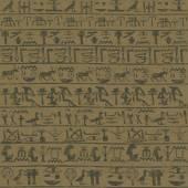 Wall with Egyptian hieroglyphs — Stock Vector