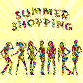 夏のショッピングは広告 — ストックベクタ