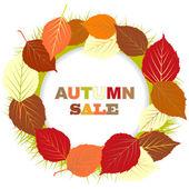 Autumn sale illustration — Stock Vector