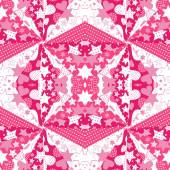 Růžové pozadí se srdíčky — Stock vektor