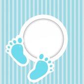 Card with baby feet — Vector de stock