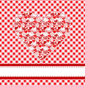 Heart over tablecloth — Stock Vector
