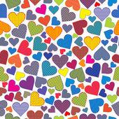 Stylized hearts background — Stockvektor