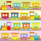 Cartoon trains backgrounds — Stock Vector