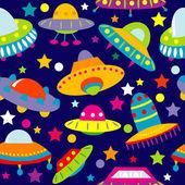 UFO cartoon seamless — Stock Vector