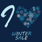 I love winter sale — Stock Vector
