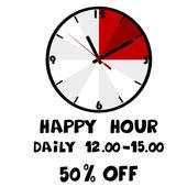 Happy hour banner — Stock Vector