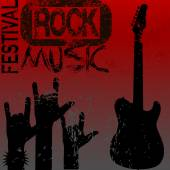 Rock music festival — Stock Vector
