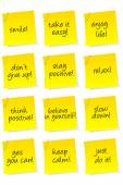 Set of sheets of paper with motivational and positive thinking m — Stockvector