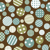 Seamless background with patterned round shapes — Stock Vector