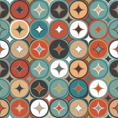 Vintage seamless with geometrical shapes — Stock Vector