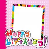 Happy Birthday scrapbook for baby girl — Stock Vector