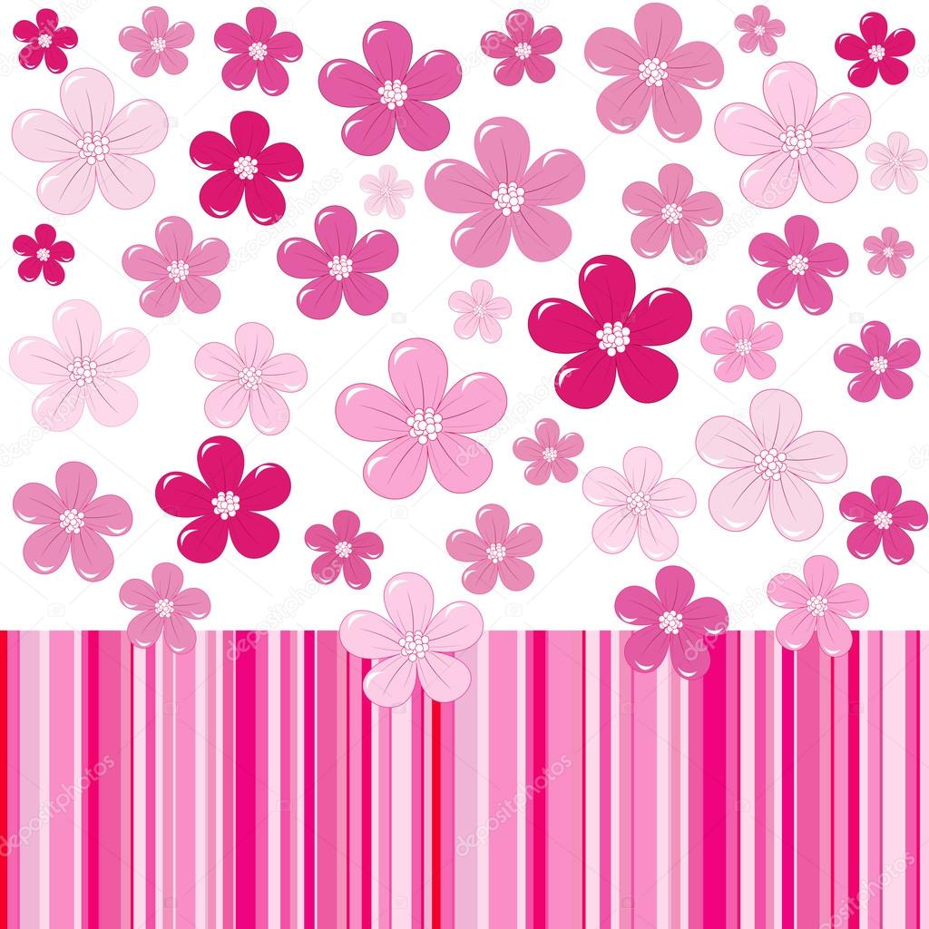 depositphotos_98725522-stock-illustration-pink-background-with-flowers-and A Simple Favor